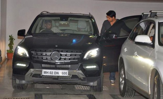 Siddharth Malhotra with his Mercedes Benz ML350 CDI