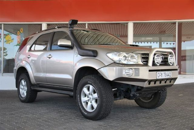 Toyota Fortuner with Steel Bumper and Bull Bar