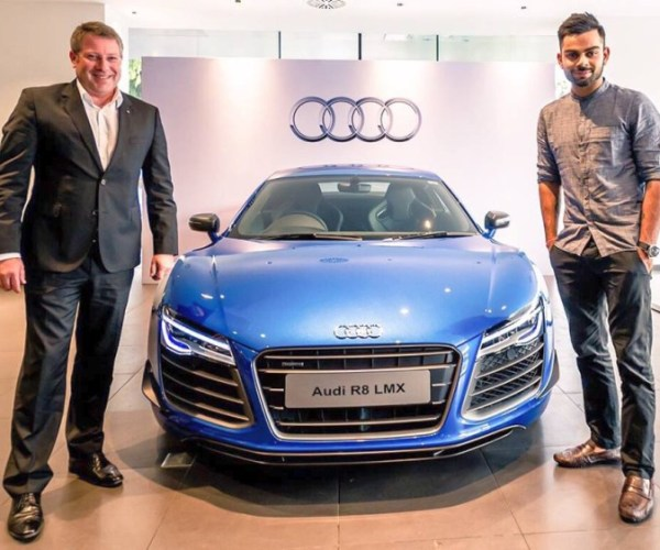 Virat Kohli in his Audi R8 LMX Supercar 2