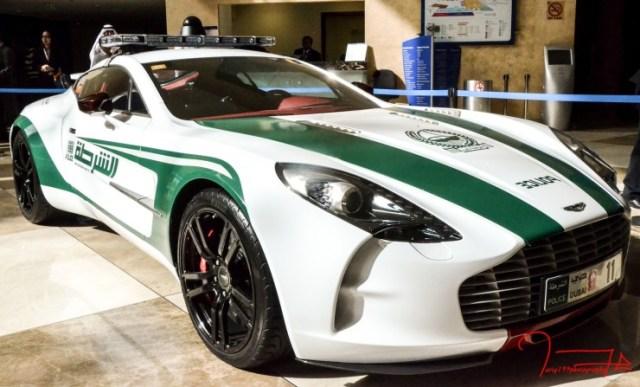 Aston Martin One 77 of the Dubai Police