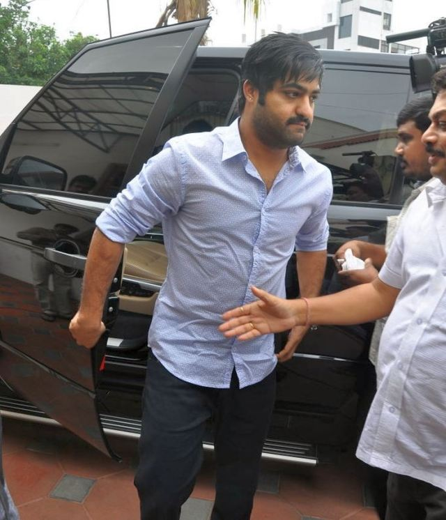Junior NTR with his Range Rover Vogue