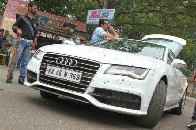 Mammootty with his Audi A7