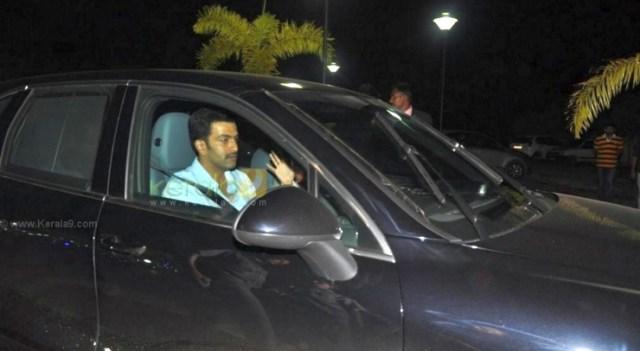 Prithviraj Sukumaran in his Porsche Cayenne