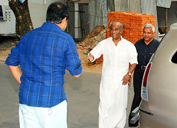 Rajnikanth with his Toyota Innova