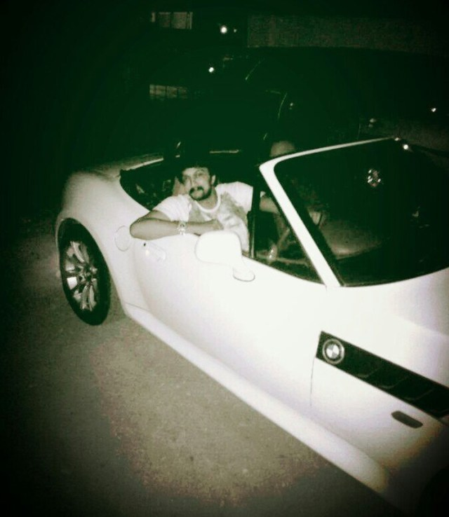 Sudeep in his BMW Z4