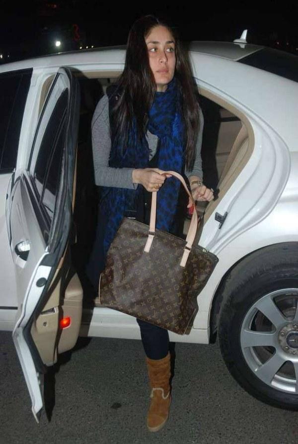 Kareena Kapoor in a Mercedes Benz S-Class luxury saloon