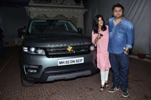 Mohit Suri with his Range Rover