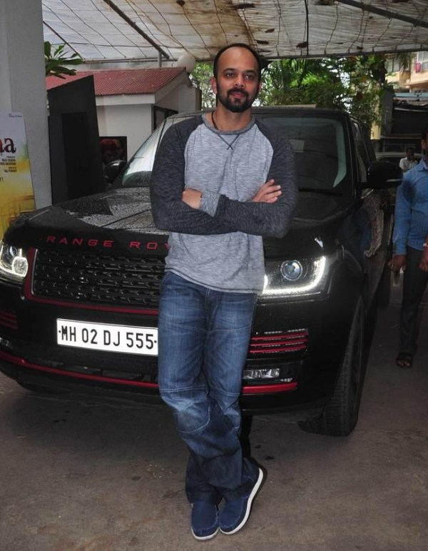 Rohit Shetty with his Range Rover Vogue