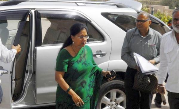 Vasundhara Raje with her Toyota Fortuner