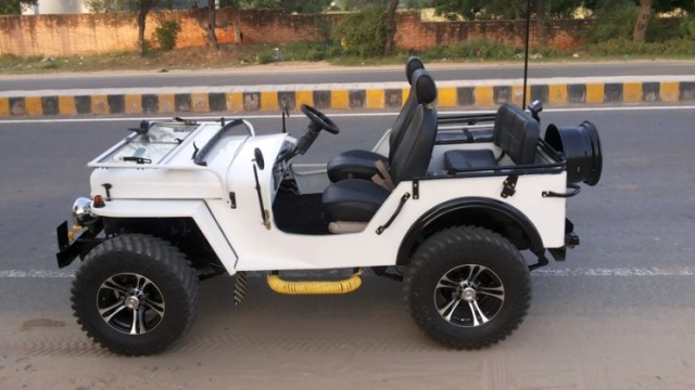 White Open Top Jeep 2