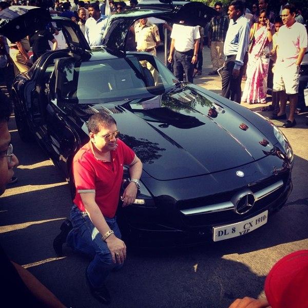Yohan Poonawalla with his Mercedes Benz SLS AMG