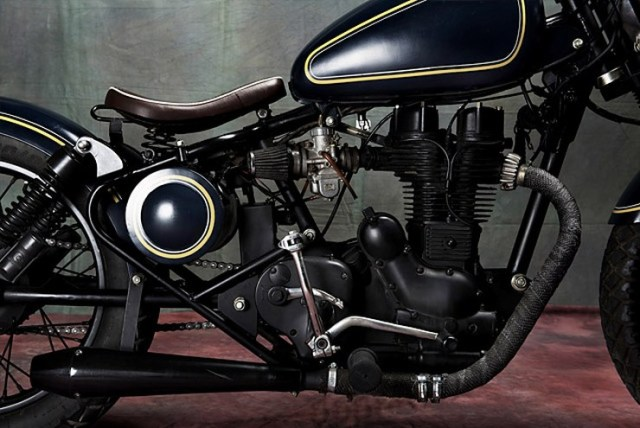 Bull city Customs' Royal Enfield Electra based Cruiser Custom 6