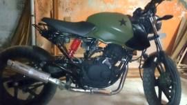 Down Town Customs' Bajaj Pulsar 150 based Scrambler 2