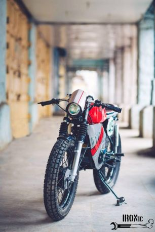IRONic Engineering's Yamaha RX100 Cafe Racer 1