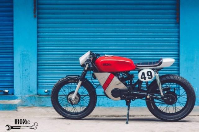 IRONic Engineering's Yamaha RX100 Cafe Racer 2