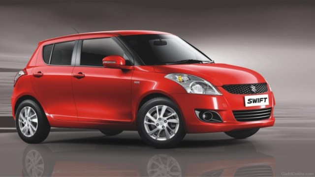 Maruti Swift in Red 2