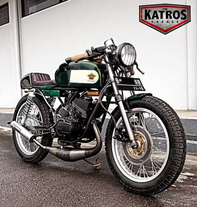 The Katros' Yamaha RX135 Cafe Racer Custom 1