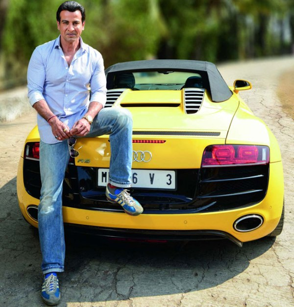 Ronit Roy in his Audi R8 Spyder