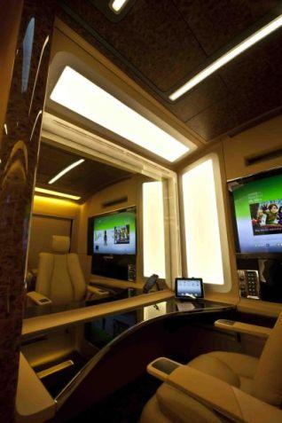 Salman vanity van interior 1