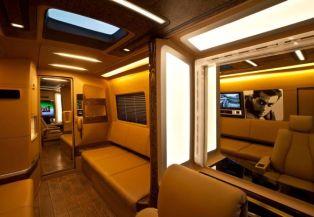 Salman vanity van interior overview