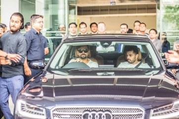 Virat Kohli with his new Audi A8L W12 Quattro Luxury Saloon 5