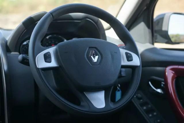 Renault Duster Facelift Interior Steering Wheel