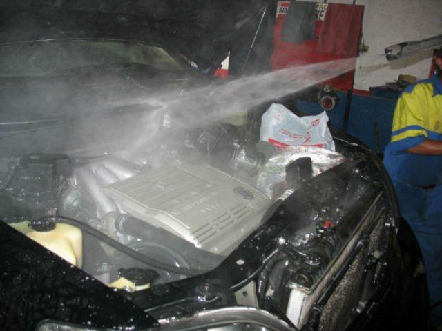 engine pressure washing