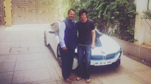 Shahrukh Khan with the BMW i8