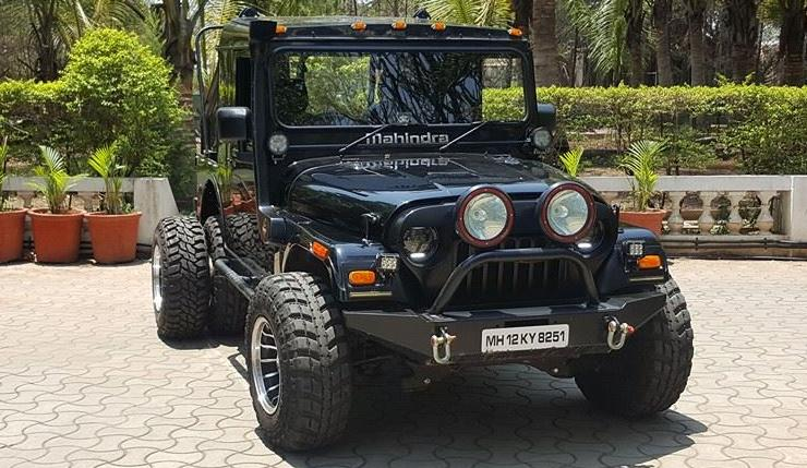 This 6 Wheeled Modified Mahindra Thar Is Pure Menace