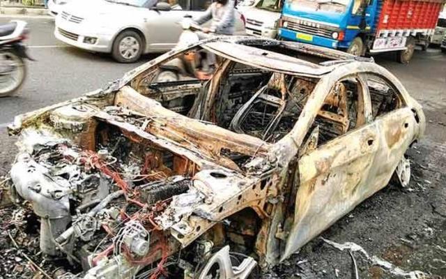 Mercedes Benz CLA Fire Delhi