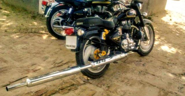 Royal Enfield with modified exhaust