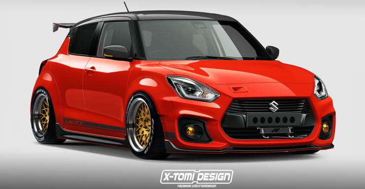 this 2018 suzuki swift sport 39 low rider 39 gives us some serious modification goals. Black Bedroom Furniture Sets. Home Design Ideas