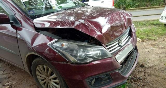 Maruti Ciaz Rear-End Crash