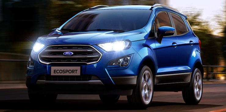 The Ecosport Facelift Now Gets A  Inch Touchscreen Infotainment System With Embedded Navigation And Rear View Camera Even On The Trend Trend And Titanium