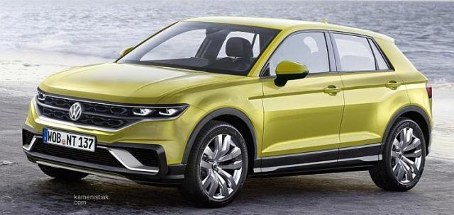 Volkswagen T-Cross SUV Render