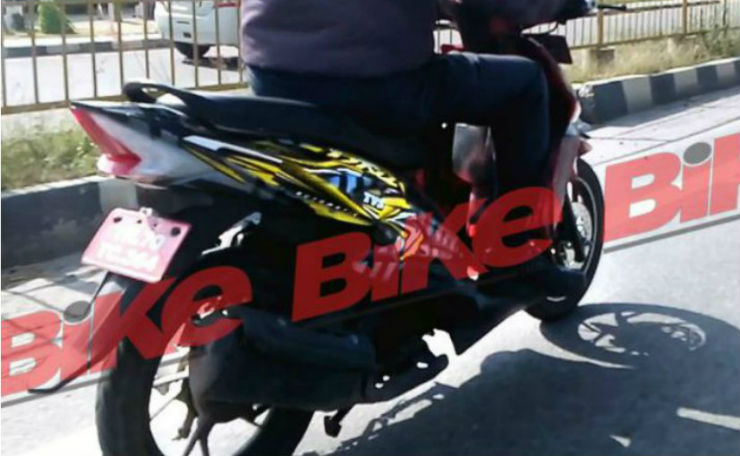 TVS Dazz spied in India