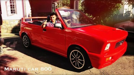 modified maruti 800 convertible images