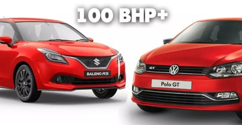 100 bhp hatchbacks of india