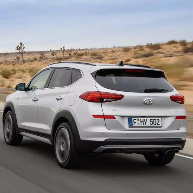 2019 Hyundai Tucson facelift images rear