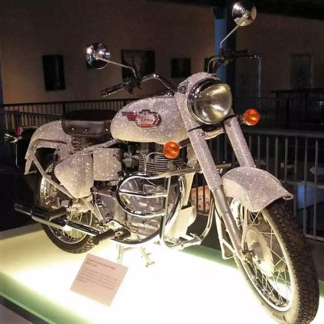royal enfield bullet crystal edition national heritage museum images