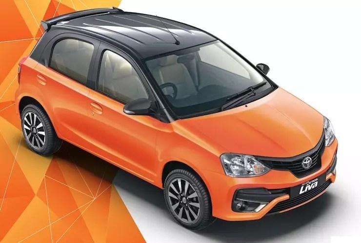 Toyota Etios Liva Inferno Orange Dual Tone Colour