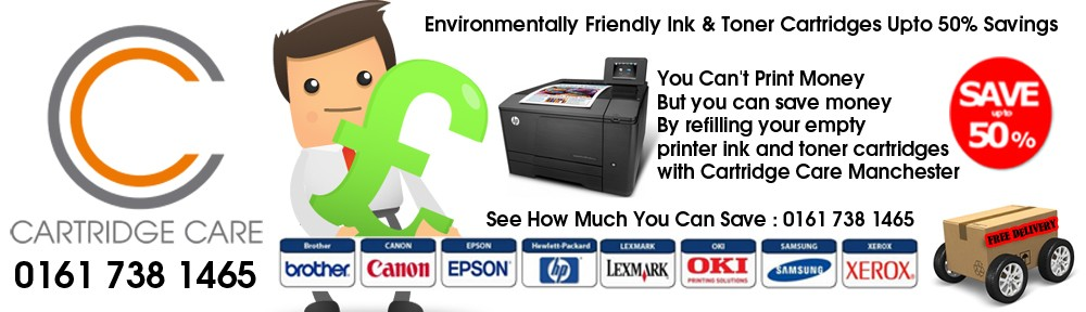 Popular Laser Toner Cartridges Refilled By Cartridge Care Manchester