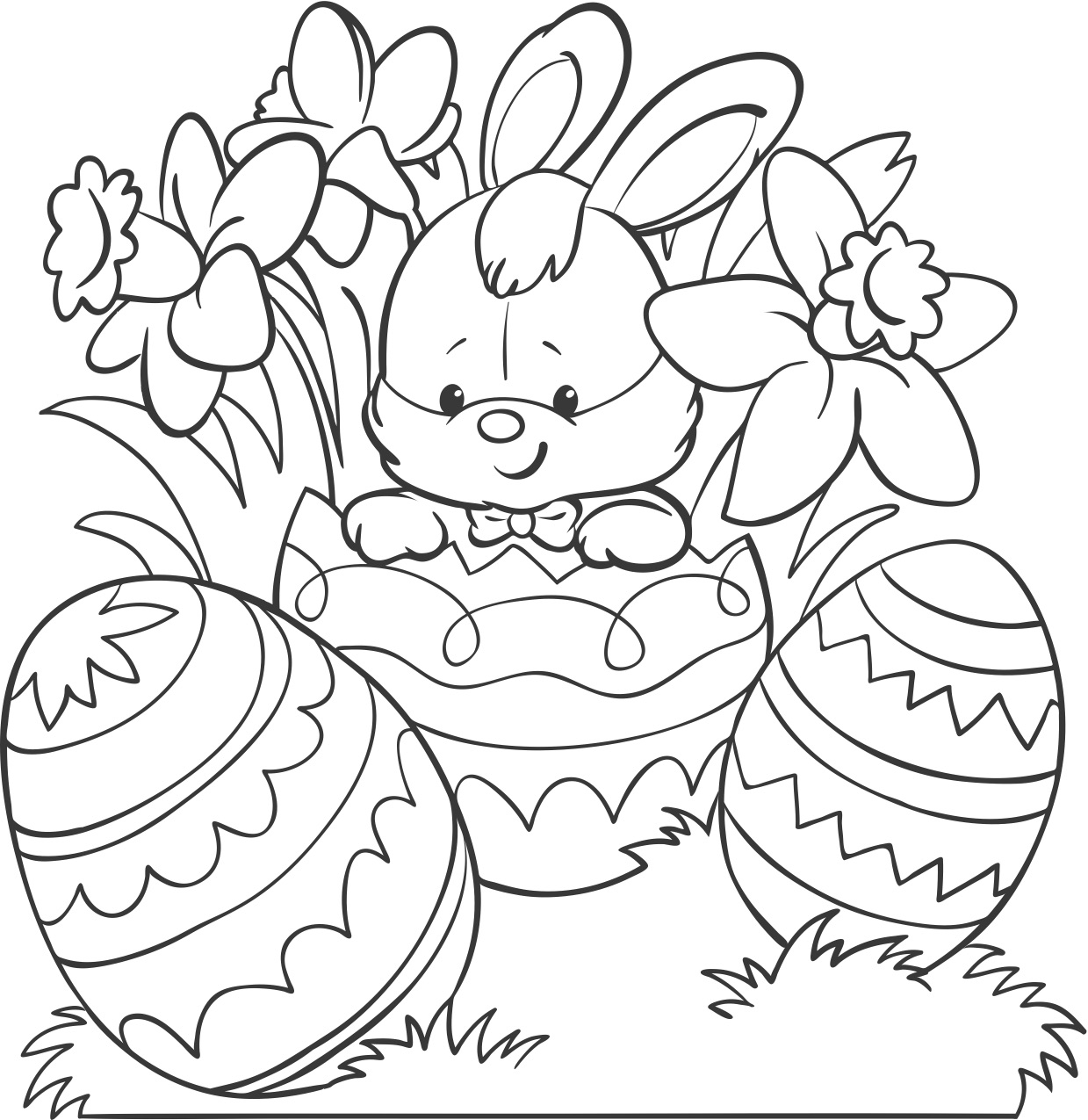 Easter Colouring Download - Print what matters | free printable easter coloring pages for toddlers