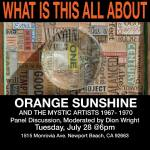 """Orange Sunshine and the Mystic Artists"" Panel Discussion – Tonight!"