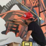 Coverage: Friday's Mural Walk for POW! WOW! Long Beach with Julie Faith
