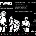 "SAVE THE DATE!  Sur le Mur presents ""Art Wars"" Exhibition at PDC – Thursday December 14th (6-10pm)"