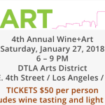 SAVE THE DATE: CASA Presents 4th Annual Wine + Art Charity Event in the Arts District on Saturday January 27th