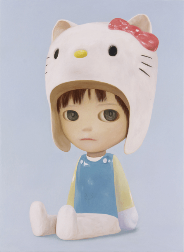 """Kitty Boy"" by Mayuka Yamamoto for the Hello Kitty 45th Anniversary Group Art Show"