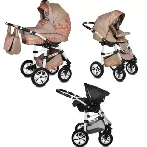 Carucior Flamingo Easy Drive Vessanti 3 in 1 Beige