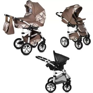 Carucior Flamingo Easy Drive Vessanti 3 in 1 Brown
